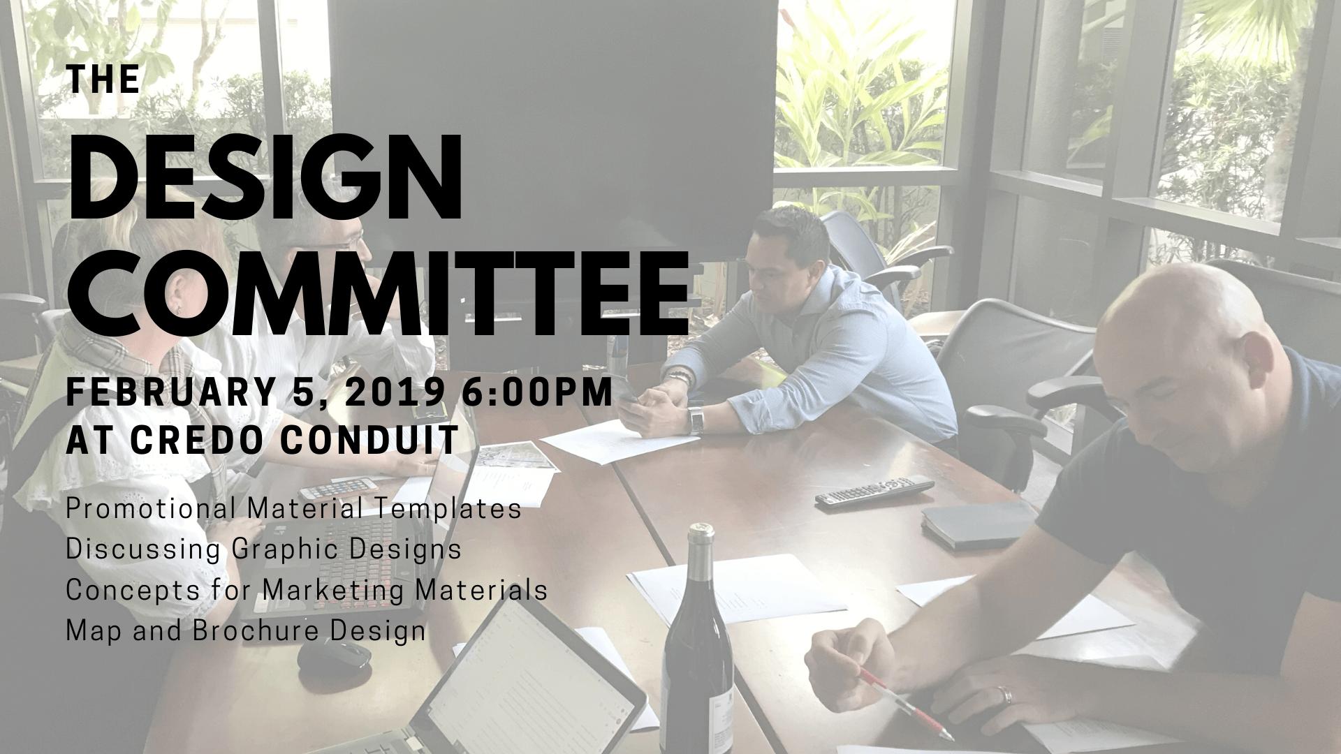 Design Committee Meeting Banner
