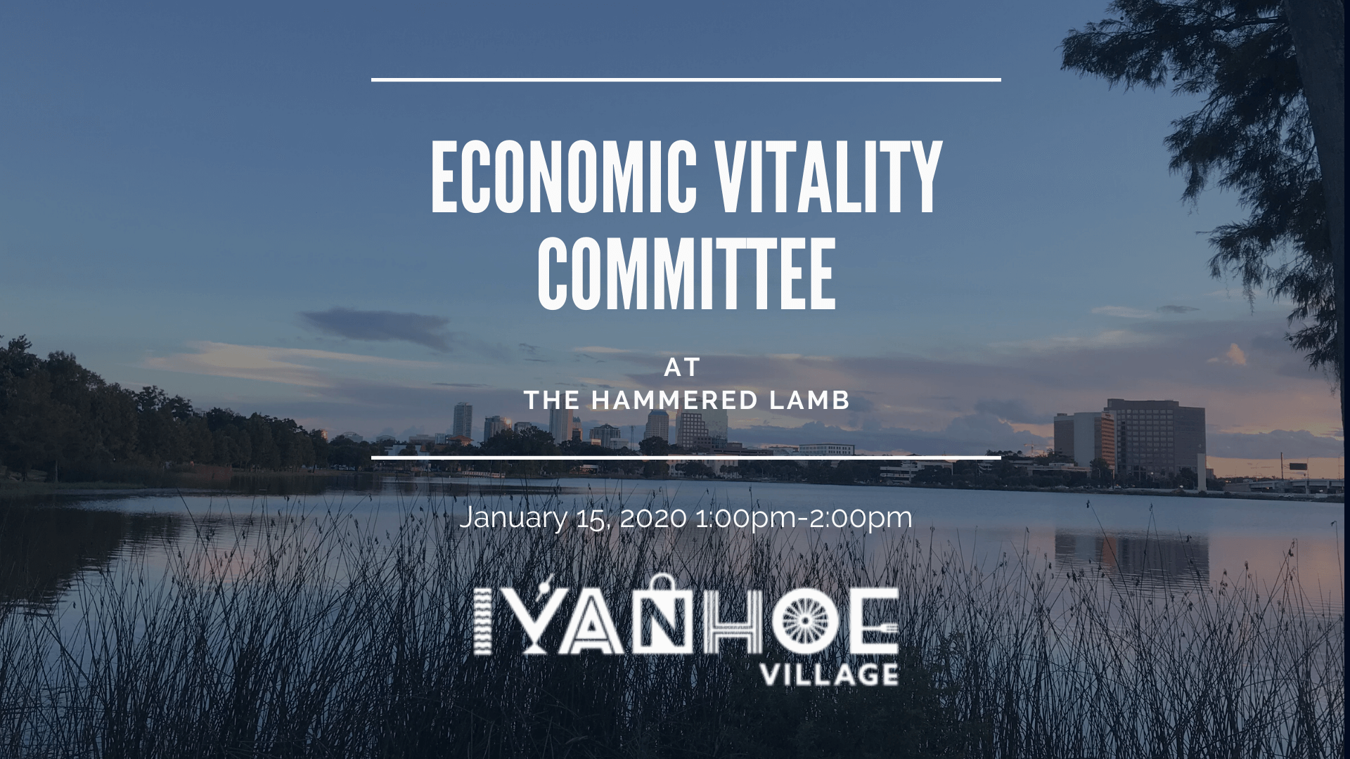 Economic Vitality Committee Event Banner