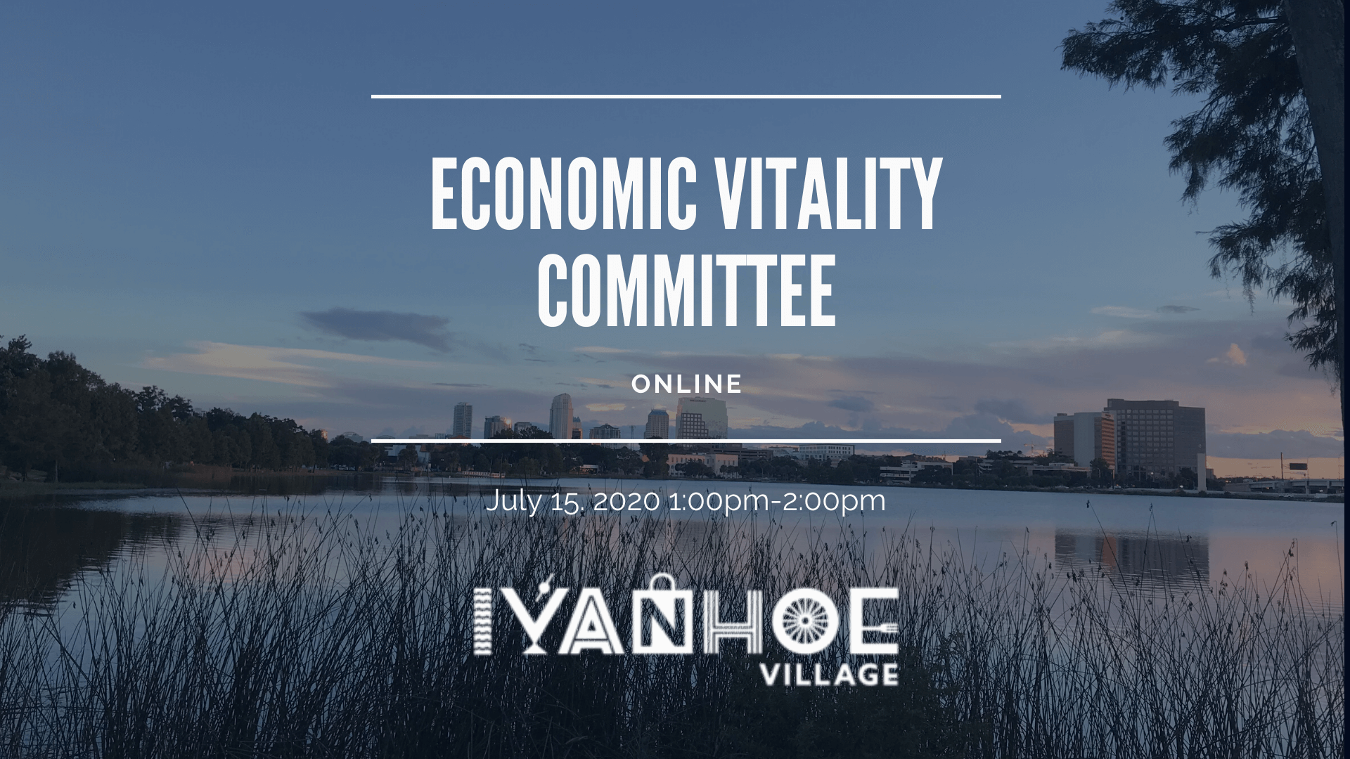 Economic Vitality Meeting Banner