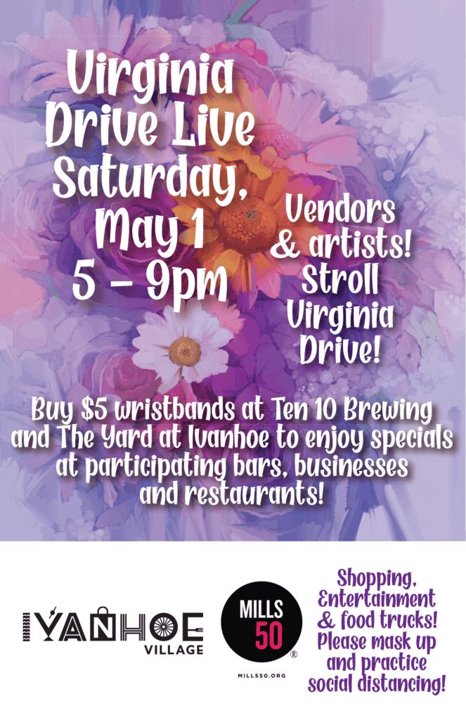 Virginia Drive Live! Poster May 1