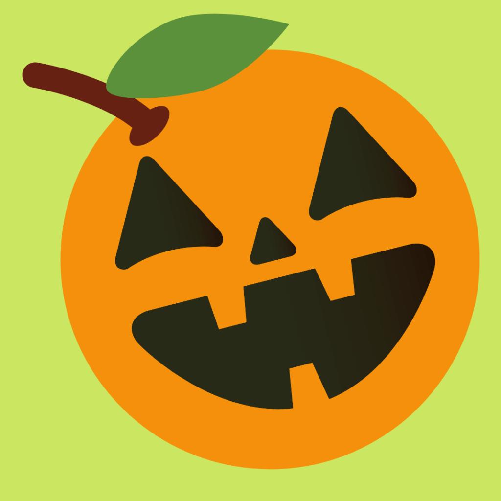 Summerween Orange with Jack-o-lantern face