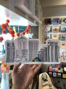 Yay! Tiny Shop sticker with Orlando landmarks by Macy Mack